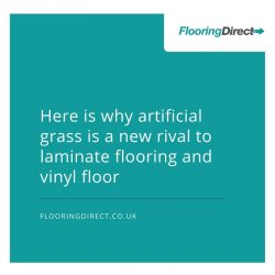Artificial grass is a new rival to traditional flooring like laminate flooring and vinyl floors.