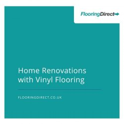 Textured vinyl floors are popular for home renovations.