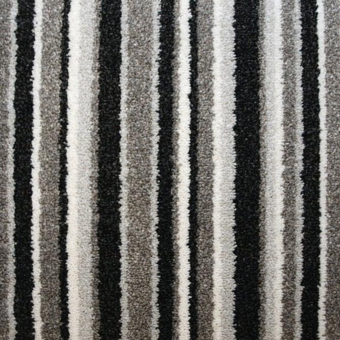 Balta splendid saxony granite stripe carpet carpets from flooring direct uk - Black white striped carpet ...