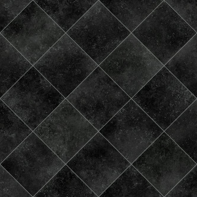 Black Vinyl Kitchen Flooring: Beauflor Luna Toulouse Black Vinyl Flooring
