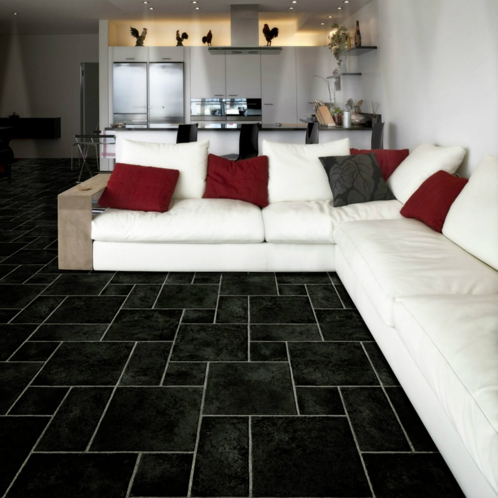 Black Vinyl Kitchen Flooring: Buy Cheap Budget Vinyl Online