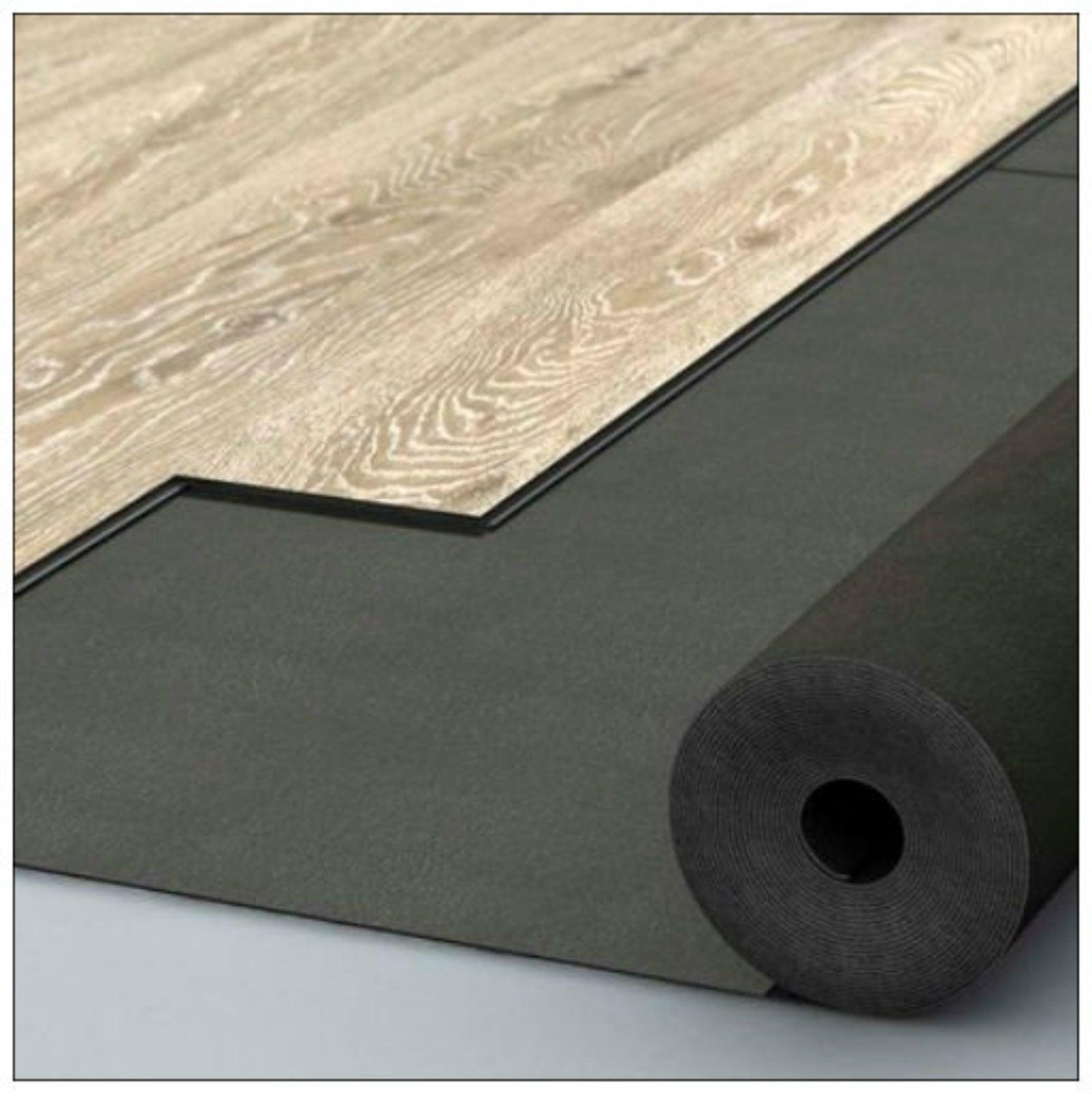 Sound // Acoustic Reduction Vinyl Flooring Built in DPM LVT Click Underlay
