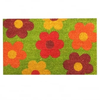 Coir Door Mat Flowers