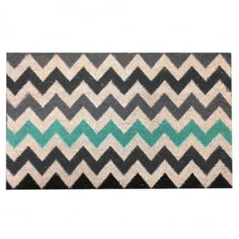 Coir Door Mat Multi Chevron