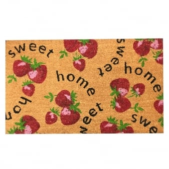 Coir Door Mat Sweet Home Purple Berries