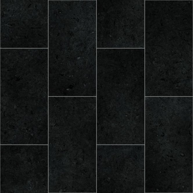 Black Vinyl Kitchen Flooring: Sacramento Black Vinyl Flooring