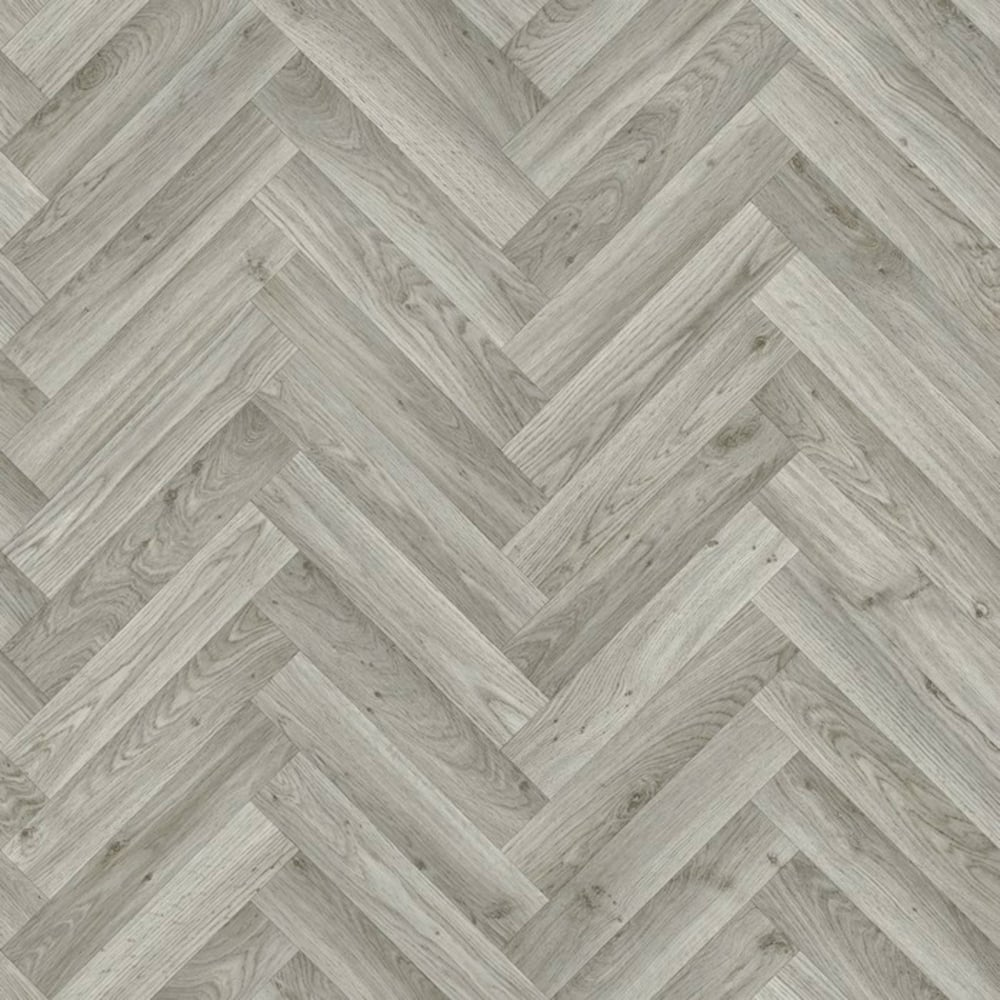 Taurus Grey Oak Chevron Vinyl Flooring Quality Lino