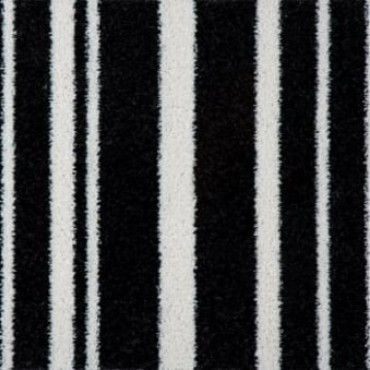 Pop Art Striped Carpet Black