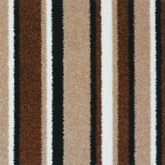 Pop Art Striped Carpet Brown