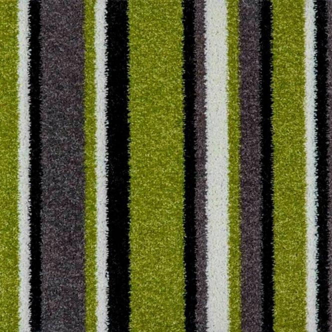 Balta Pop Art Striped Carpet Green.