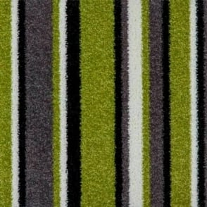 Pop Art Striped Carpet Green
