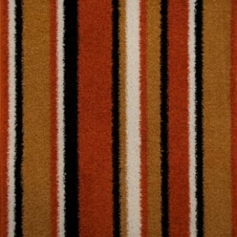 Pop Art Striped Carpet Orange