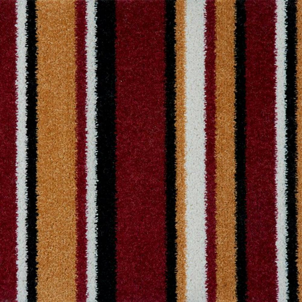pop art striped carpet red