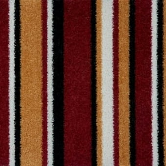 Pop Art Striped Carpet Red