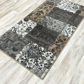Shiraz Silver Brown Patchwork 1569 NO33