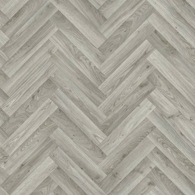 Taurus grey oak chevron vinyl flooring quality lino for Lino laminate flooring